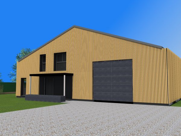 Transformation d'un hangar en loft