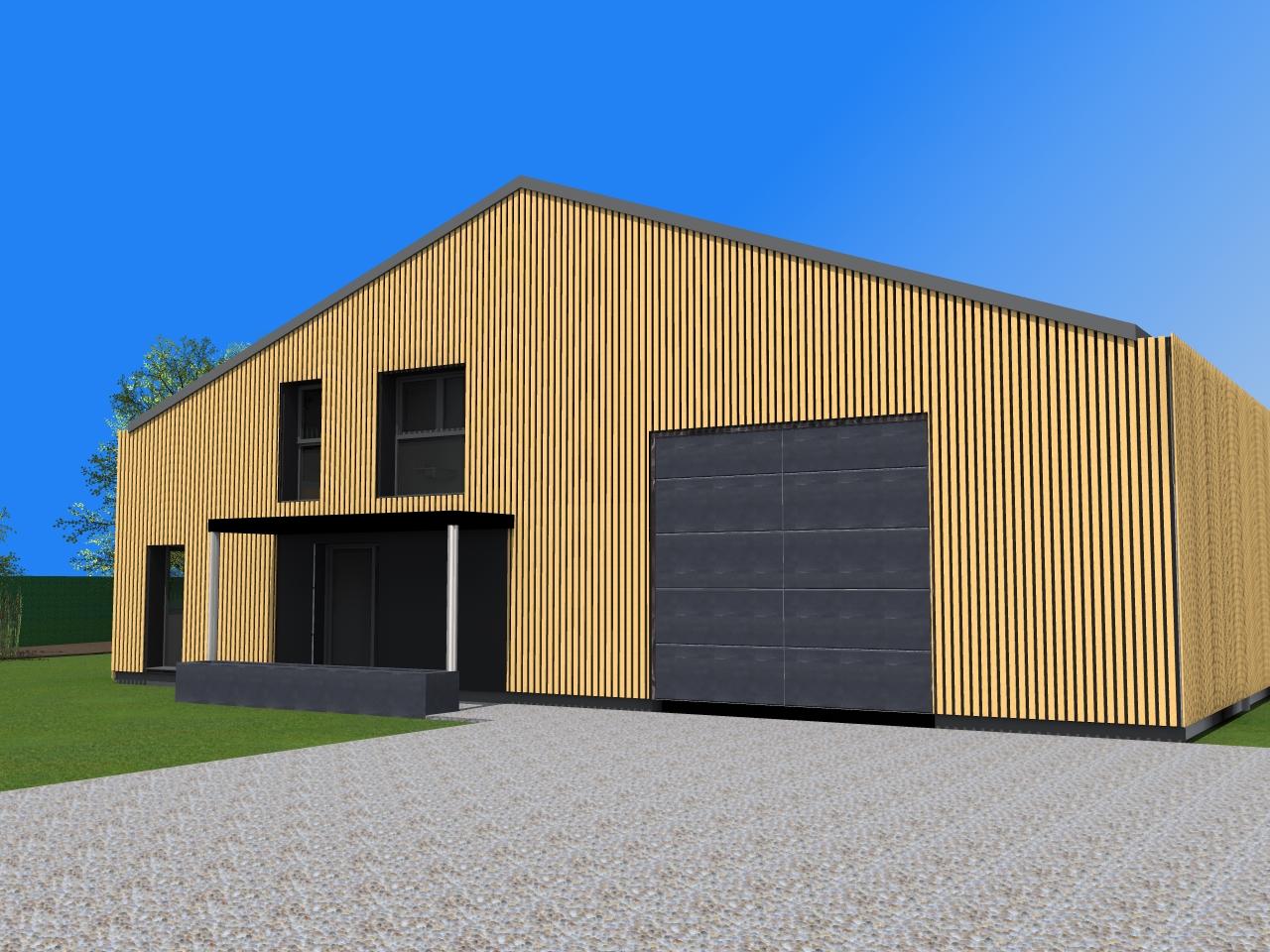 transformation d un hangar en loft amiot arnoux architectes. Black Bedroom Furniture Sets. Home Design Ideas