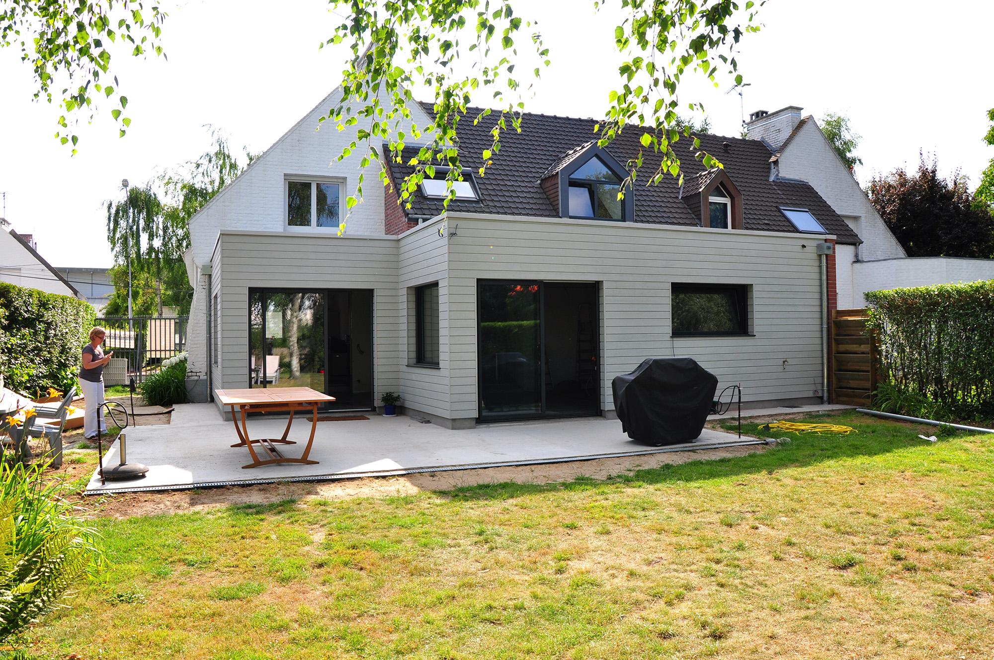 extension d une maison individuelle marcq en baroeul amiot arnoux architectes. Black Bedroom Furniture Sets. Home Design Ideas
