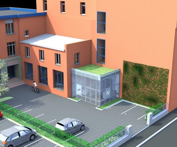 Etude pour le réaménagement des accès et des circulations d'un bâtiment à usage de bureaux