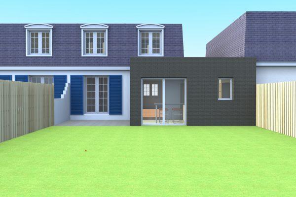 Etudes pour l'extension d'une maison individuelle à Villeneuve d'Ascq