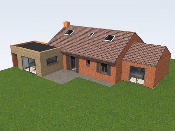 Etudes pour l'extension d'une maison individuelle à Meurchin