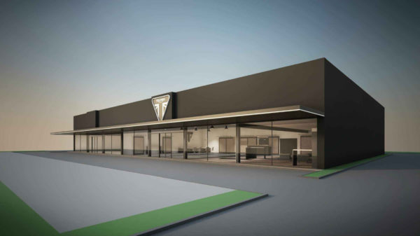 Construction du magasin et atelier pour TRIUMPH  à Bruay-la-Buissière